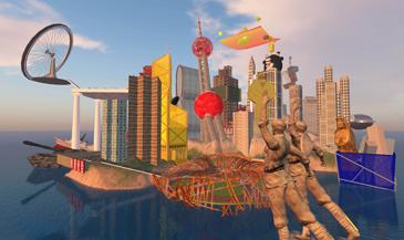 Cao Fei,  RMB City, SecondLife  Video Still