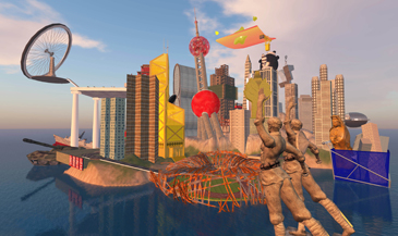 Cao Fei,  RMB City, SecondLife  Video Still