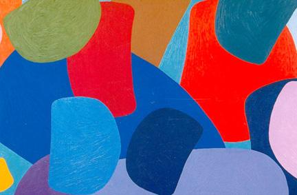 Lawrence Paul Yuxweluptun, Colour Zone, Acrylic on Canvas, 2000