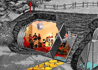 Instant Coffee, Disco Fallout Shelter, 2009, Concept collage
