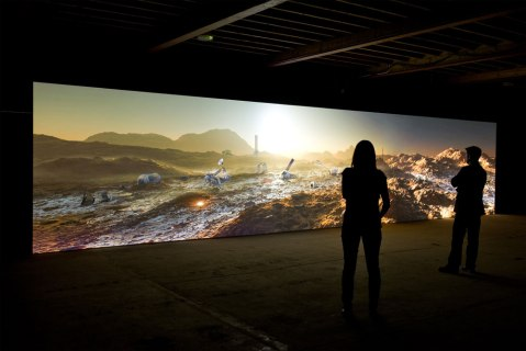 Kelly Richardson Mariner 9 2012 Installation view Courtesy of the artist and Birch Libralato / photo Colin Davison